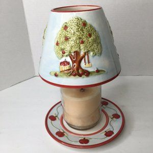 3D Apple Tree Candle Topper / Shade With Plate